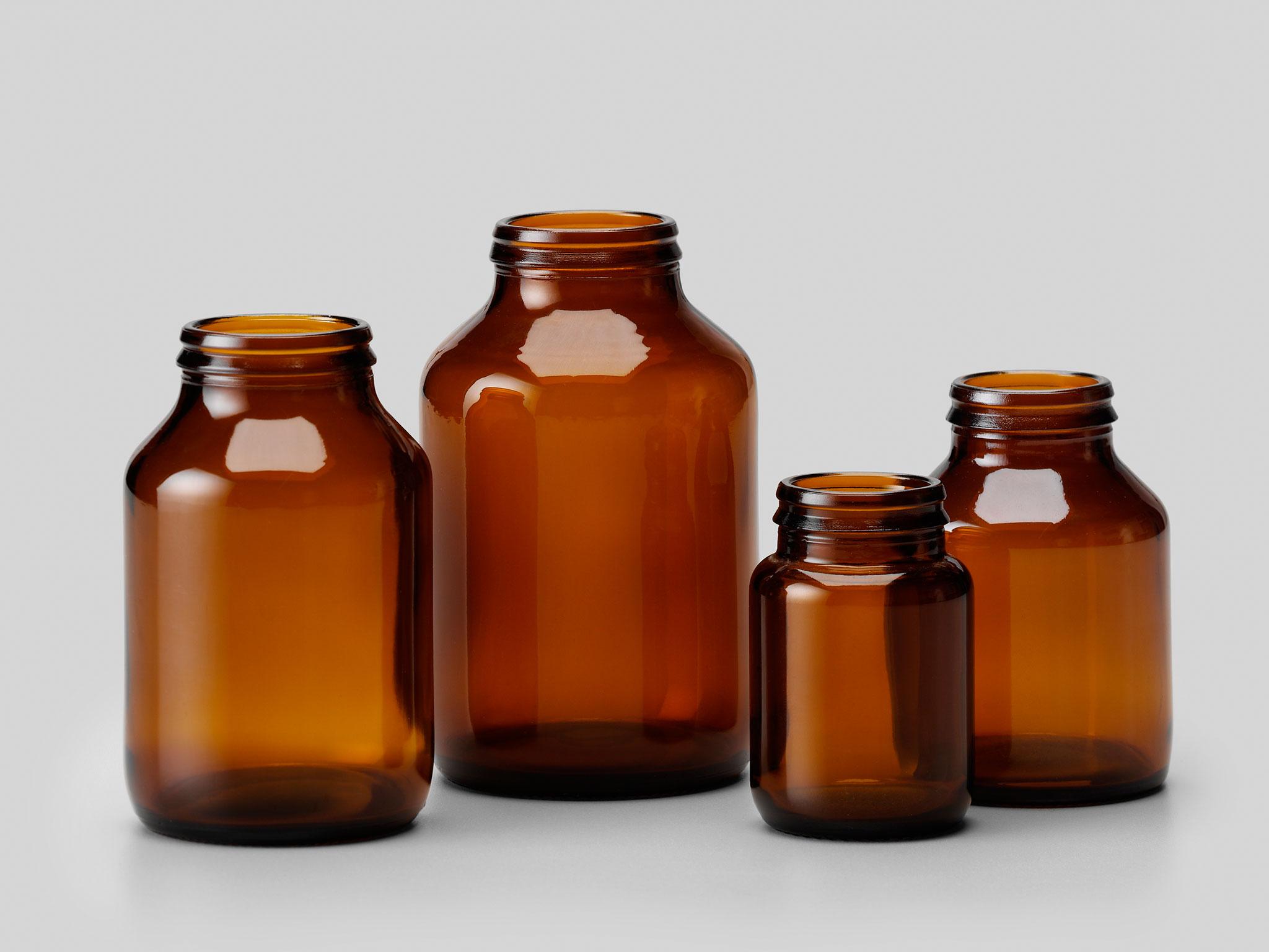 Glass Cylindric Tablet Bottle J-Cap