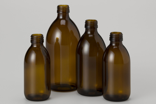 Glass Syrup Bottle