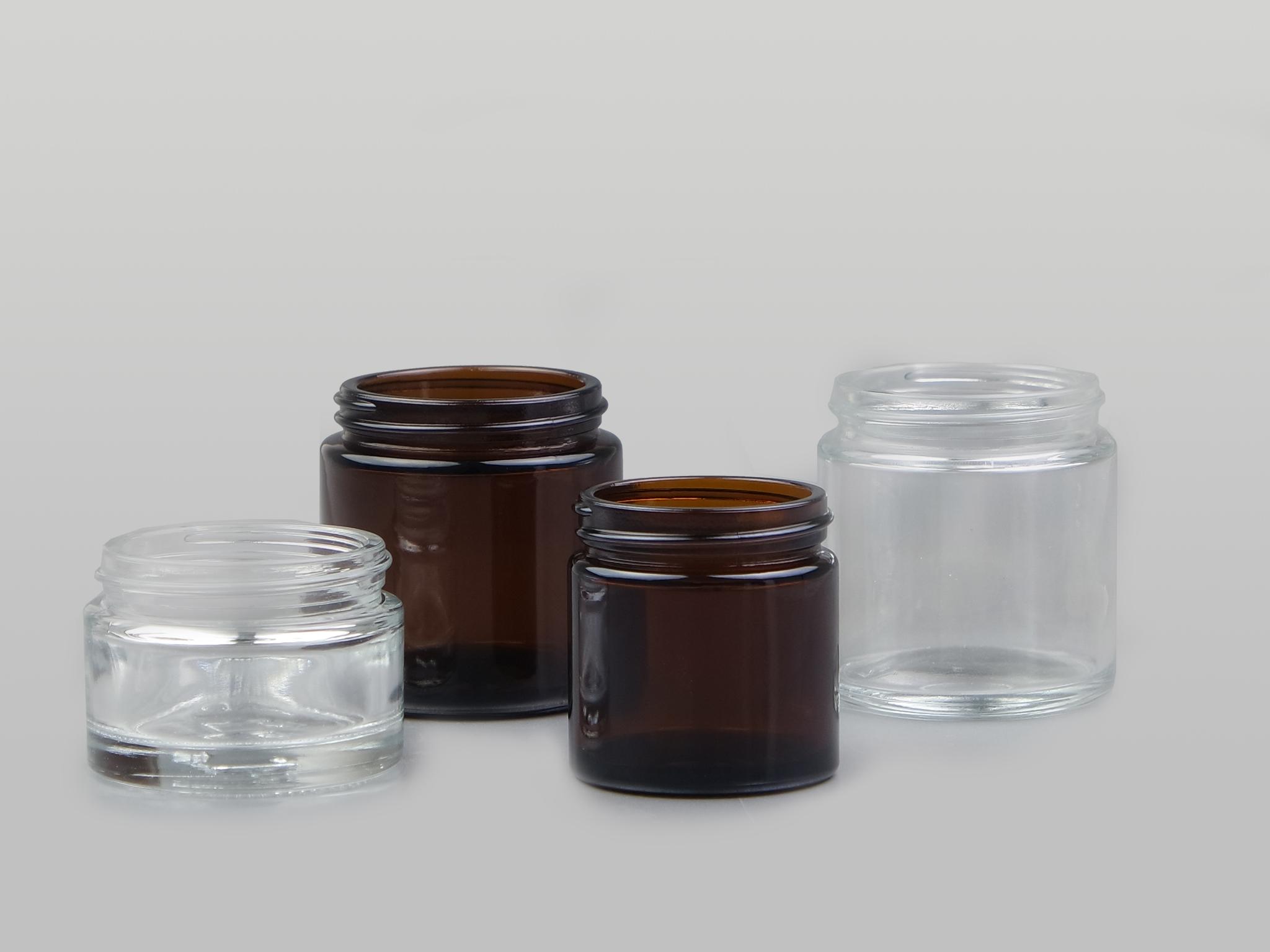 Glass Cream Jar