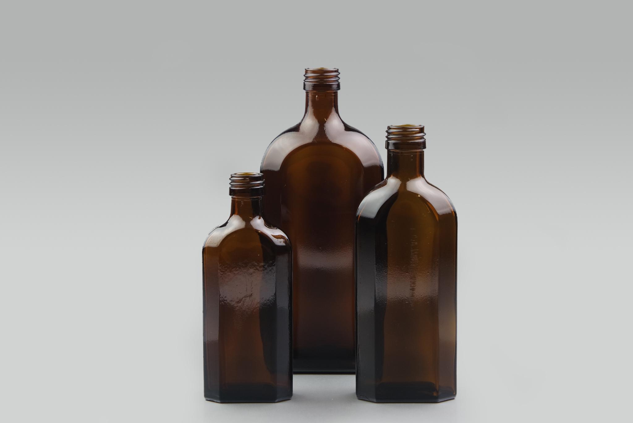 Glass Meplat Bottle