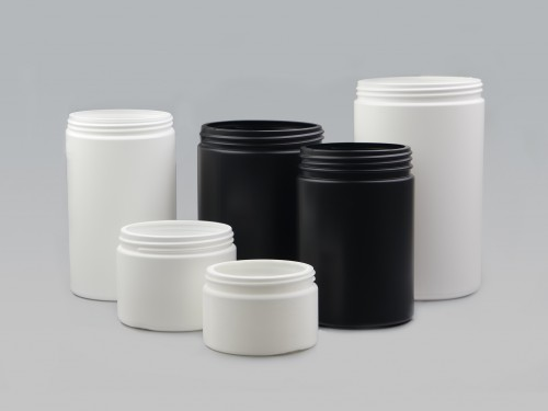 HDPE Cylindrical Jar